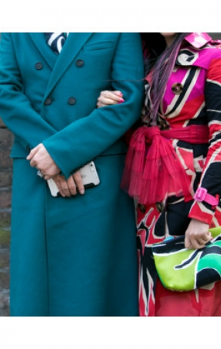 Street style с Недели моды в Лондоне осень-зима 2015/16