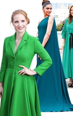 Формула успеха: зеленые платья Канн-2017