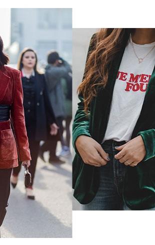 Как сочетать бархатные вещи в 2018 году: модные советы