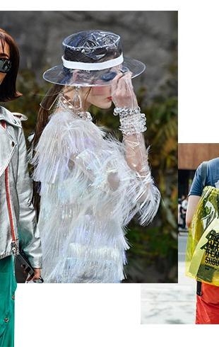 Модные ткани и с чем они сочетаются: винил, пластик, кожа, шифон