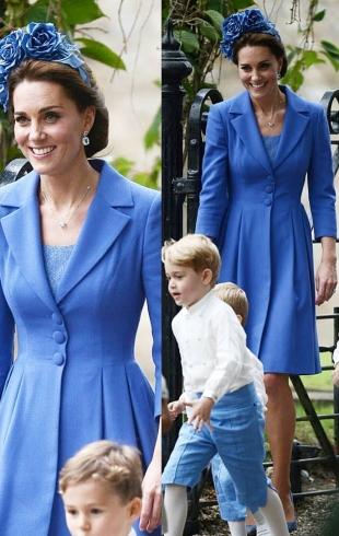 Герцоги Кембриджские Кейт и Уильям с детьми побывали на свадьбе подруги (ФОТО)