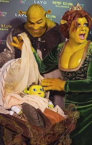 """Хайди Клум на Хэллоуин-2018 превзошла саму себя: как создавался образ из """"Шрека"""""""