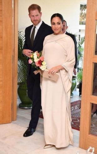Беременная Меган Маркл в ослепительном платье Dior появилась на приеме в Марокко (ГОЛОСОВАНИЕ)