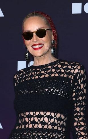 Шэрон Стоун в полупрозрачном платье стала звездой благотворительного вечера (ГОЛОСОВАНИЕ)