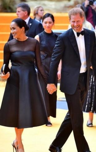 """Меган Маркл и принц Гарри посетили премьеру фильма """"Король Лев"""" в Лондоне (ФОТО+ВИДЕО)"""