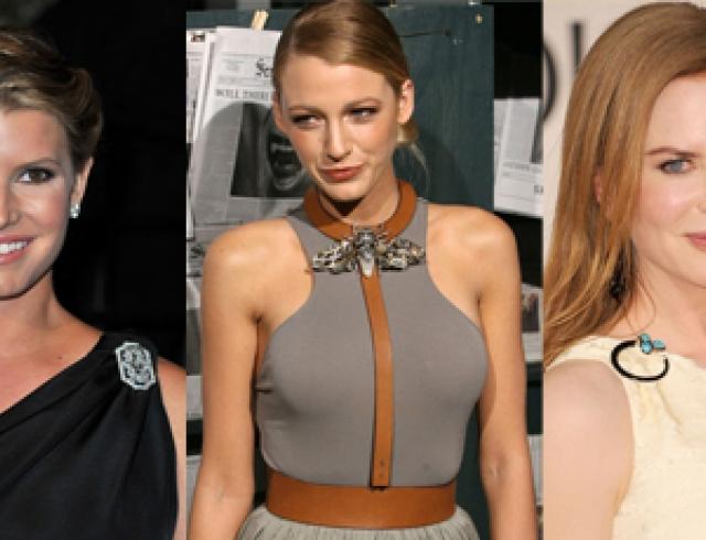 Модные броши: выбор звезд