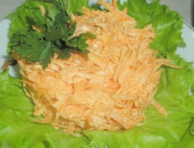 Воскресное блюдо: салат морковный с чесноком