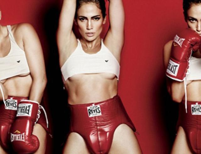 Сексуальный бокс от обнаженной Джей Ло. Фото