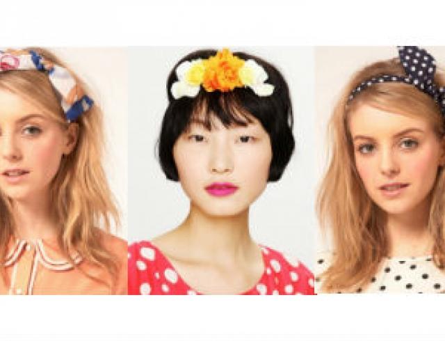 Модные аксессуары для волос весна-2012