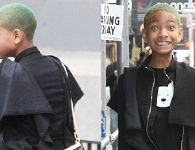 Дочь Уилла Смита покрасила волосы в зеленый цвет