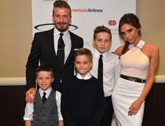 Семья Бекхэмов посетила благотворительный вечер