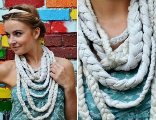 Мастер-класс стилиста: шарф-ожерелье из маек