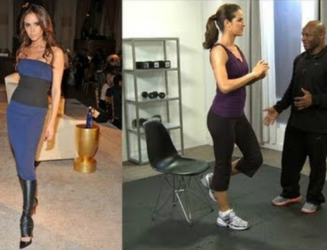 Фитнес-урок: ноги, как у Виктории Бекхэм. Видео
