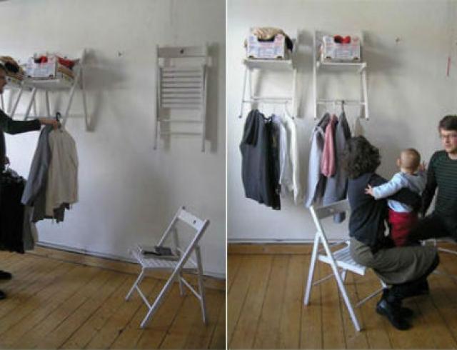 Мастер-класс: полки из стульев