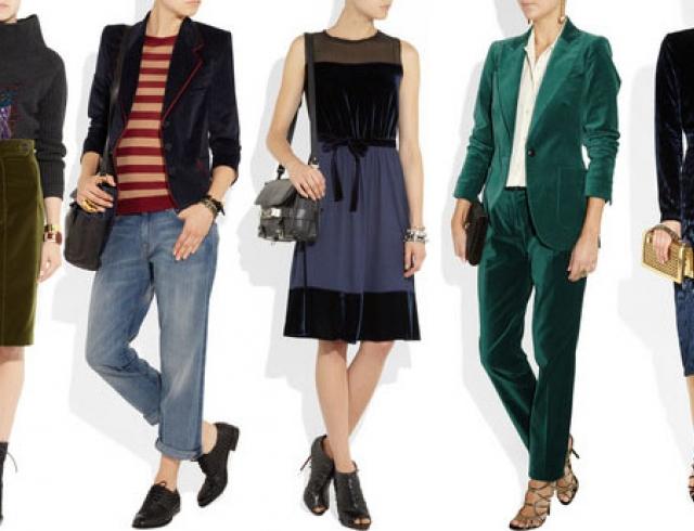 С чем носить бархатные вещи: советы и образы