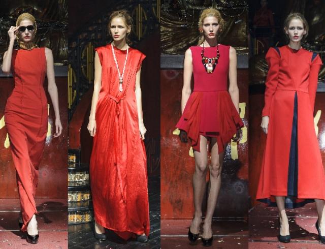 Коллекции красных платьев от украинских дизайнеров