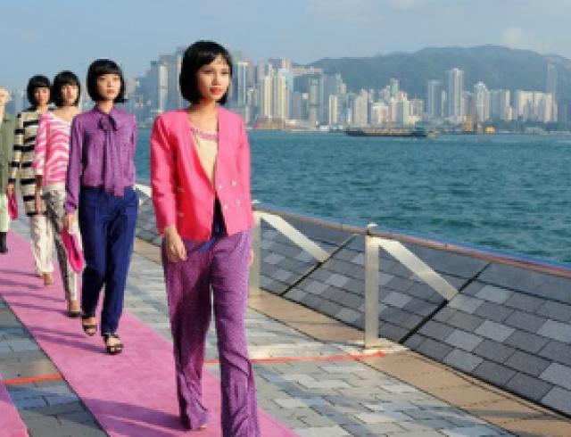В Гонконге построили самый длинный модный подиум