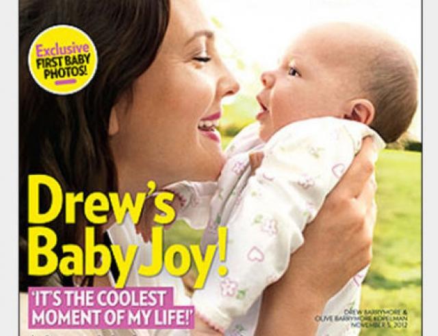 Появился первый официальный снимок 2-месячной дочери Дрю Бэрримор. Фото