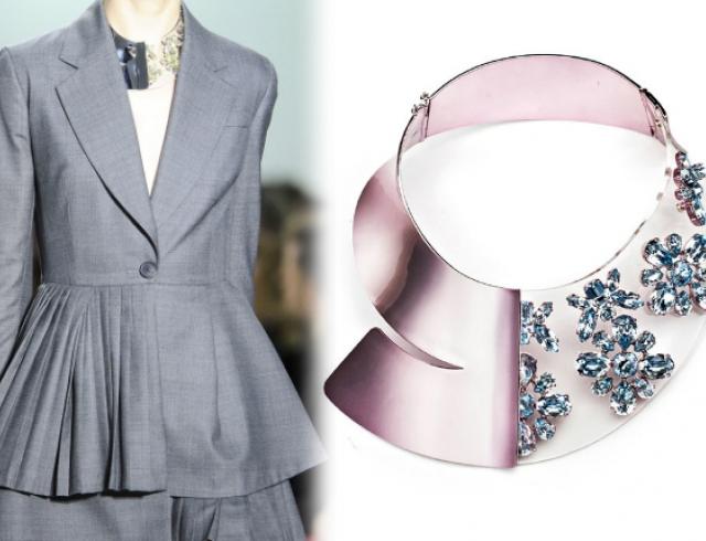 Футуристичное колье от Christian Dior