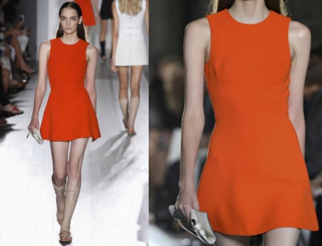 Красное платье от Victoria Beckham