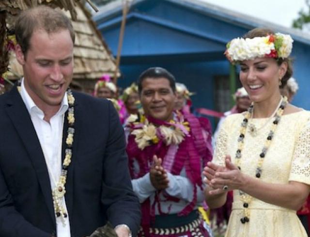 Королевский отдых Кейт и Уиляма на Карибах. Фото