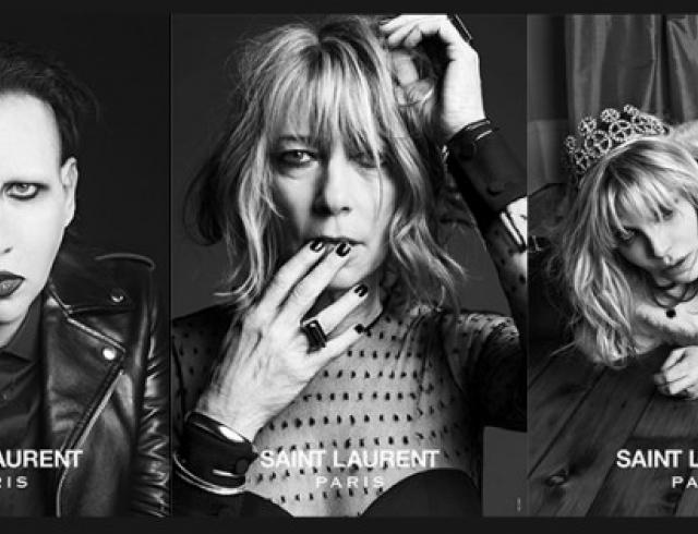 Появились первые фото Мэрилина Мэнсона в промо Saint Laurent