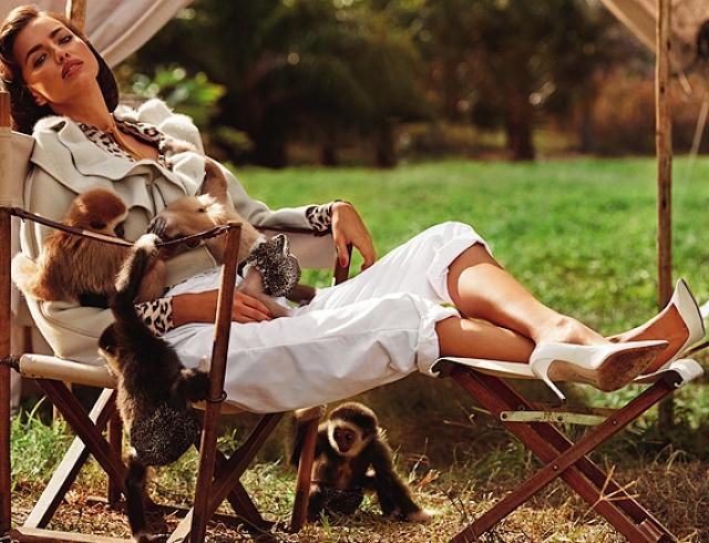 Ирина Шейк снялась в фотосессии в роли ветеринара. Фото