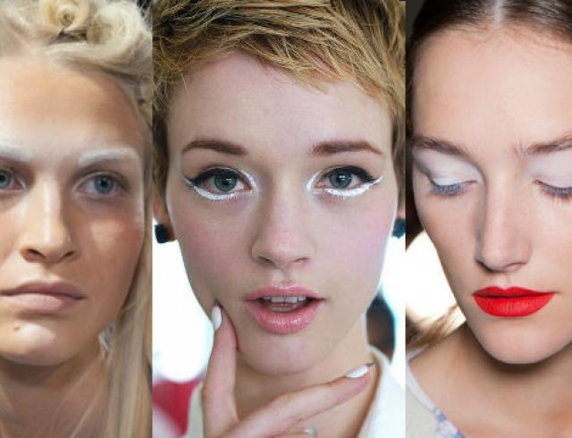 Тренд в макияже: белый цвет