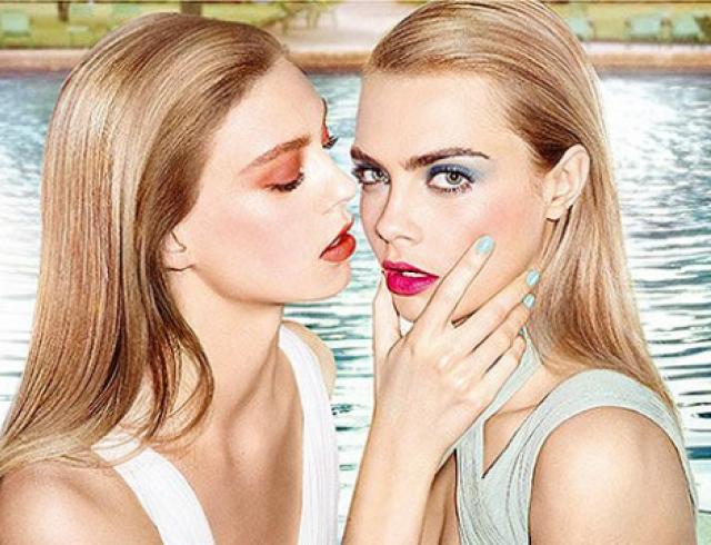 Кара Делевинь представила новую промокампанию YSL Beauty