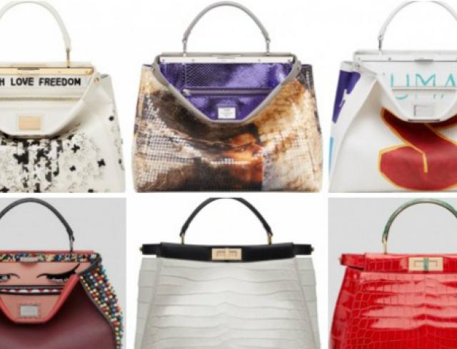 10 звезд создали свои версии сумок Peekaboo для Fendi