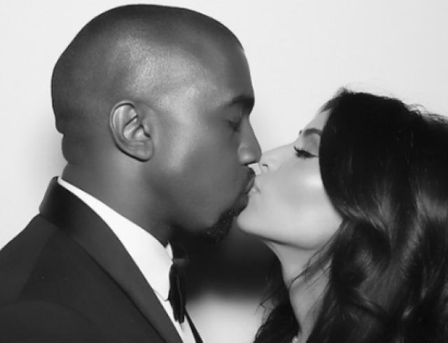 Свадебное фото Ким Кардашьян и Канье Уэста взорвало Instagram