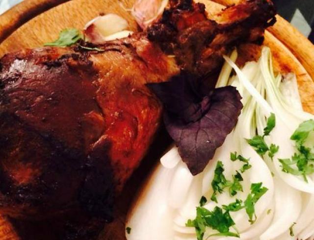 Кулинарный блог Рады Макогон: индюшиная голень в горчичном маринаде