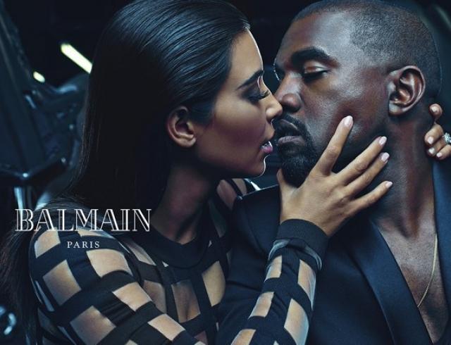 Как Ким Кардашьян и Канье Уэст снялись для Balmain