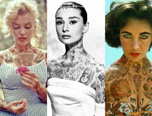 Если бы все звезды были в татуировках: новые наколки Брэда Питта и Дженнифер Лоуренс
