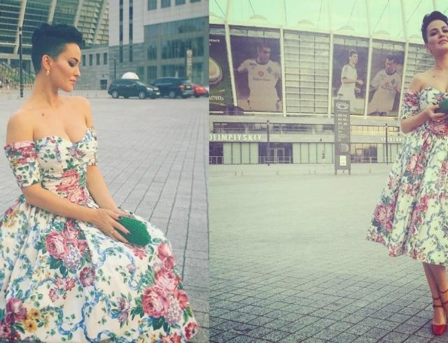 Винтажный шик: Даша Астафьева в платье 67-го года