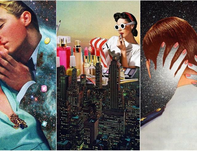 Любовь и космос: художница создает меткие коллажи в стиле сюрреалистического ретро