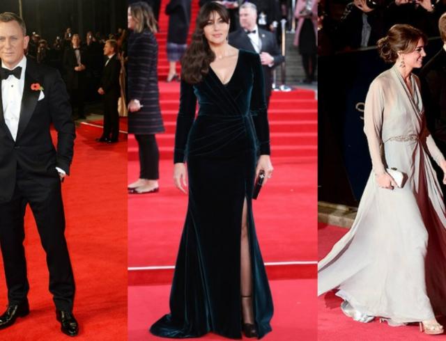 Мировая премьера Бонда: Моника Беллуччи, Дэниел Крейг и королевская семья на красной дорожке