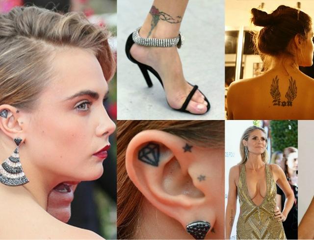 Модели с татуировками: да или нет. Фотогалерея