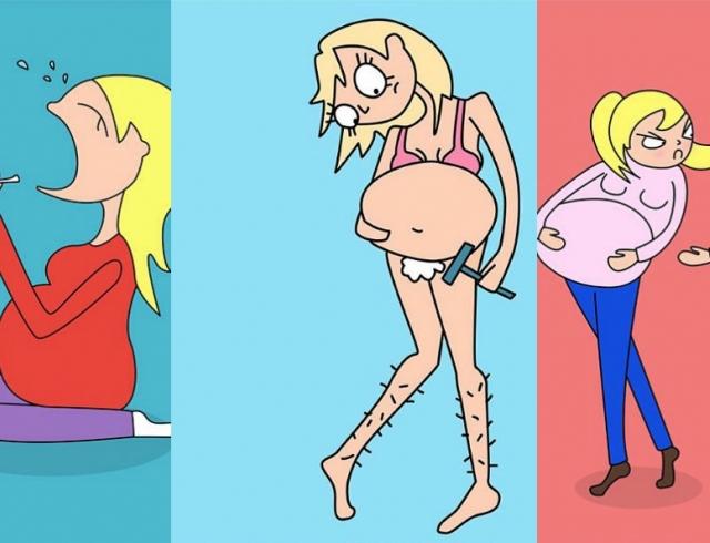 Вызовы беременной женщины: молодая мама делится забавными иллюстрациями в Инстаграме