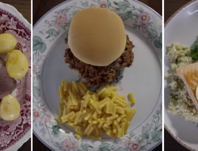 Как менялась со временем еда на столе у американцев: эволюция кухни США за 3 минуты. Видео