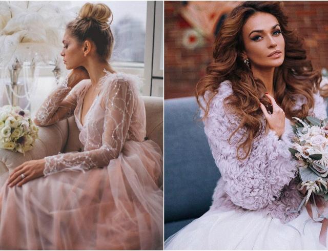 Шикарные невесты: Брежнева и Водонаева в свадебной фотосессии