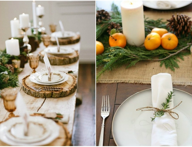 Как украсить стол к Новому году: идеи декора из натуральных материалов