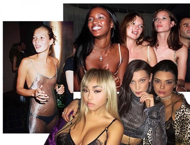 Вечеринка в стиле Кейт Мосс: супермодели 90-х против топ-моделей 2017