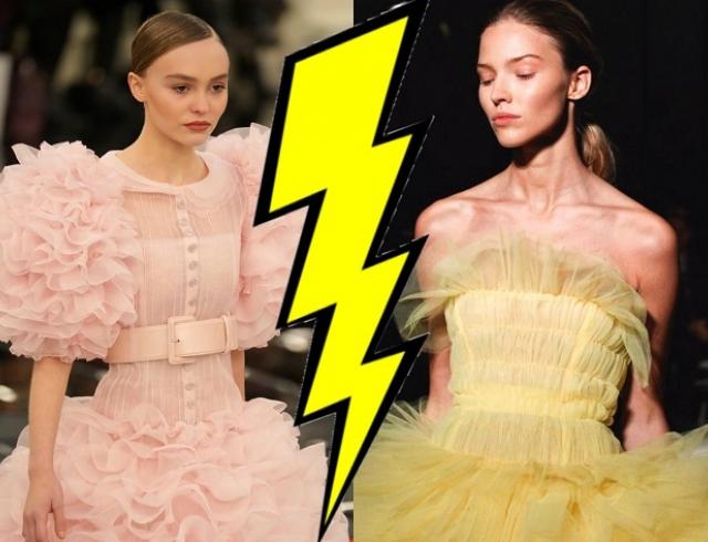 Лили-Роуз Депп против Саши Лусс: два самых пышных платья на Неделе высокой моды в Париже
