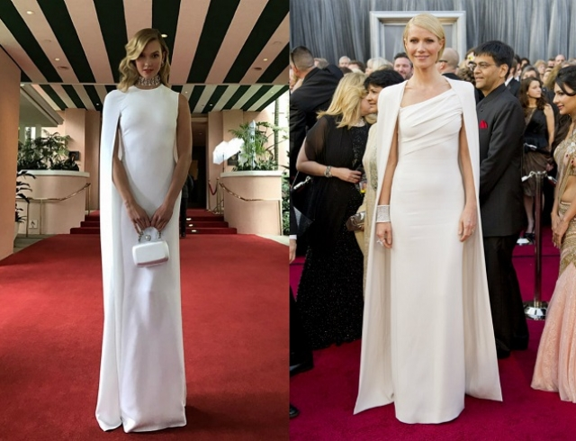 Оскар-2017: Карли Клосс повторила образ Гвинет Пэлтроу на красной дорожке