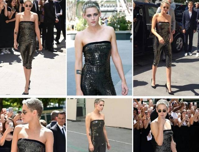 Кристен Стюарт снова поразила всех на показе Chanel в Париже