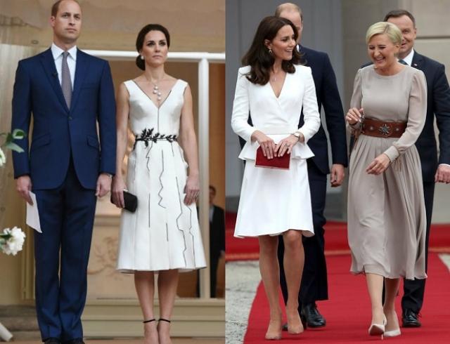 Мода и дипломатия: Кейт Миддлтон в платье польского дизайнера в Польше