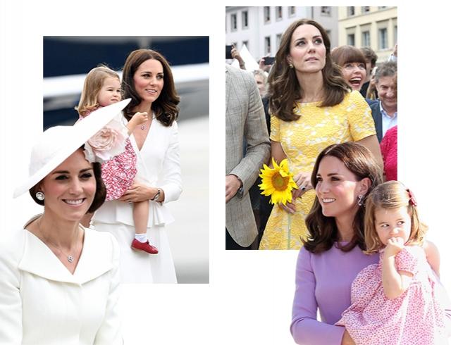 Европейский тур Кейт Миддлтон: приталенные платья и family look герцогини title=