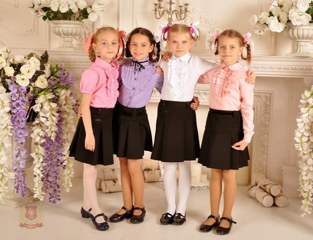Обновленный ассортимент школьных блузок для девочек: интернет-магазин «Розетка»
