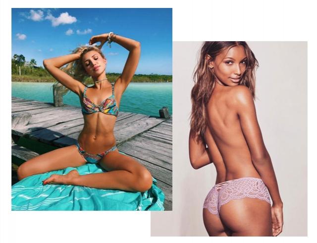 """Мода на тело в Инстаграм: ямочки Венеры, """"мостик бикини"""", грудь и рот"""